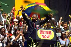 Nelson Mandela Oakland California apartheid Kuvituskuvat