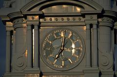 Fitness old city hall pa clock time clocktower Stock Photos