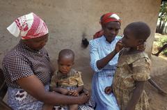 Kenya community based health worker on home meru Stock Photos