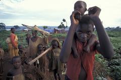 Tanzania burundian hutu refugges at likole camp Stock Photos