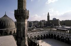 Stock Photo of egypt mosque of al akbar cairo minaret islam