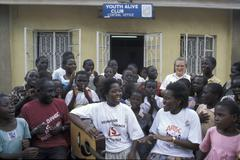 Uganda anti-aids youth alive club kamwokya the Stock Photos