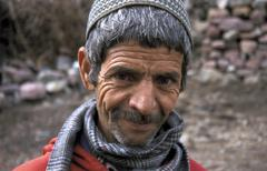 morocco berber man male of the high atlas people - stock photo