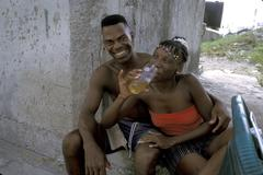 Cuba couple of regla afro black woman female man Stock Photos