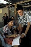 El salvador adult literacy class in rural area Stock Photos