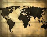 Ancient world map Stock Illustration
