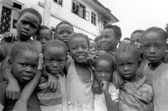 children kids of buchanan liberia people person - stock photo