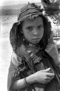 Faces berber girl of the middle atlas morocco Stock Photos