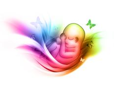 Symbol of motherhood Stock Illustration