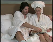 Breakfast in bed V6 - PAL Stock Footage