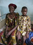 7938a benin woman female and boy parakou people Stock Photos