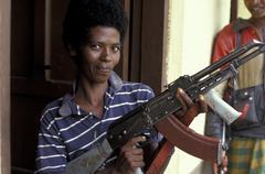 Ethiopia female soldier of the oroma liberation Stock Photos