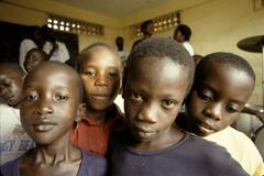 Uganda aids orphans at komwokya christian centre Stock Photos
