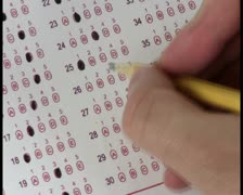 Multiple choice test V8 - PAL Stock Footage