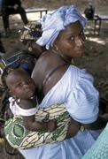 Gambia with her child kid she is part Stock Photos