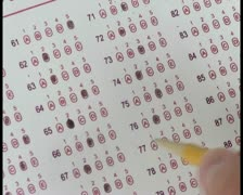 Stock Video Footage of Multiple choice test V1 - PAL