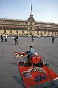 Mexico hispanic handicraft traders in zocola Stock Photos