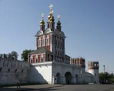 Russia gate church monastery moscow country 7887 Stock Photos