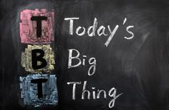 acronym of tbt for today's big thing - stock photo