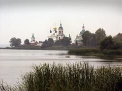 russia monastery of saint st. st jacob 2002 - stock photo