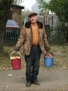 russia man male selling apples vladimir 2002 - stock photo
