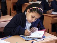 Egypt fransiscan fathers school kafr el dawar Stock Photos