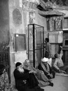 egypt visitors to the virgin church el sourian - stock photo