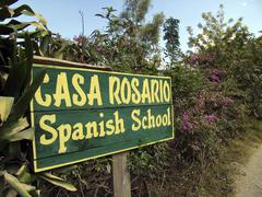 Stock Photo of guatemala sign for spanish language school where