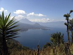Guatemala view over lake atitlan central america Stock Photos