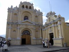 guatemala colonial church antigua central 2004 - stock photo