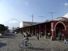 Stock Photo of guatemala main square of antigua central america