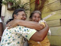 Honduras women females embracing latin america Stock Photos