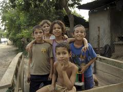 Honduras children kids of san pedro sula latin Stock Photos