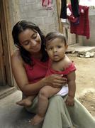 Honduras mother child kid san pedro sula latin Stock Photos