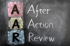 Stock Photo of acronym of aar for after action review