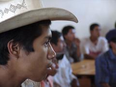 Honduras men males at community meeting to new Stock Photos