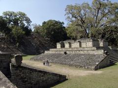 Honduras ball court at copan mayan ruins latin Stock Photos
