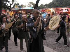 Japan buddhist procession tokyo 2003 people Stock Photos