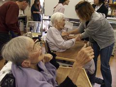 Japan alzheimer cases at old peoples home kyoto Stock Photos