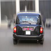 london cab taxi car - stock photo