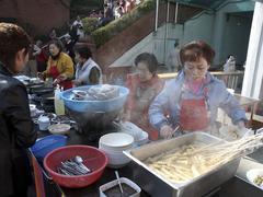 Korea food stall at market seoul photo 2003 Stock Photos