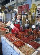 Korea kimchee on sale at karakan wholesale food Stock Photos