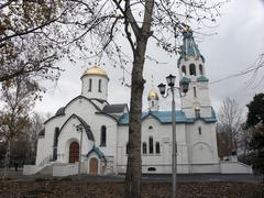 russia new orthodox church yuzhno sakhalinsk far - stock photo