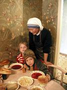 Russia soup kitchen run by sisters of charity Stock Photos