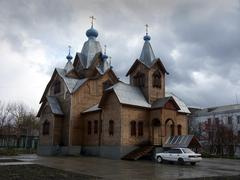 russia new orthodox church sakhalin island far - stock photo