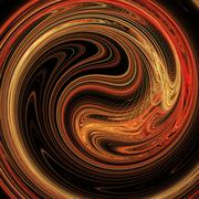 abstract background. fractal twirling - stock illustration