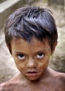 el salvador boy of san francsico javier central - stock photo