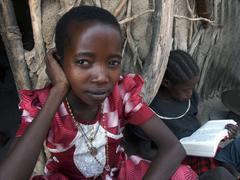 Tanzania watatulu tribal children kids at girl Stock Photos