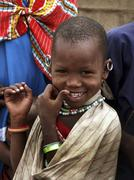 Tanzania masai child kid moita village arusha Stock Photos