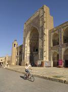 uzbekistan the abdul azziz madrassah bukhara - stock photo